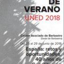 CURSO DE VERANO UNED: ESPAÑA: RETOS Y OPORTUNIDADES. 40 años de Constitución