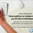 Curso: «Como publicar su trabajo más rápido con ATLAS.ti 8 Windows & Mac