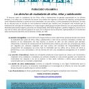 PUBLICADO EL SEGUNDO VOL. DE LA REVISTA SOCIEDAD E INFANCIA: «Los derechos de ciudadanía de niños, niñas y adolescentes»
