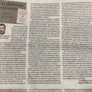 Reseña del colegiado Álvaro Couceiro Farjas en la Opinión de Zamora- «En defensa de la Ilustración»