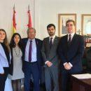 Reunión de la Comisión Joven del Colegio Ágora Novel con el Embajador de Palestina